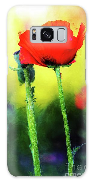 Painted Poppy Abstract Galaxy Case