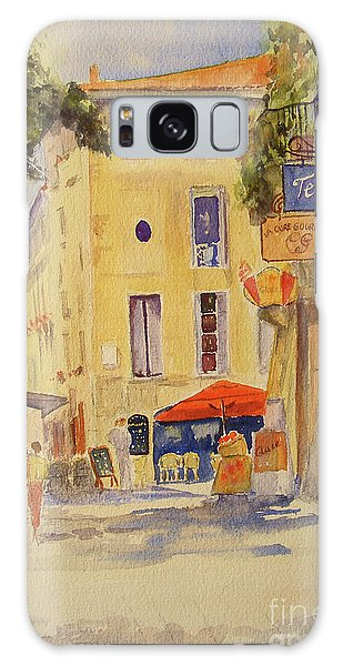 Painting Of Uzes France Galaxy Case