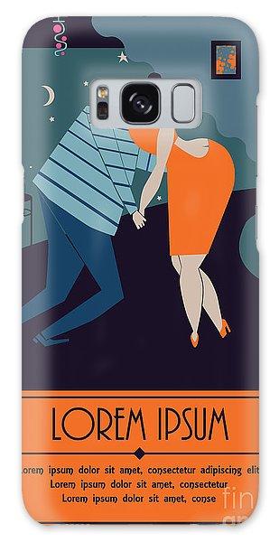Bar Galaxy Case - Pair Of Sweethearts Dancing Slow Dance by Amarante Ayo