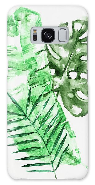 Palm Leaves-banana, Coconut, Monstera Galaxy Case