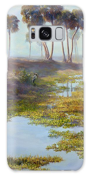 Old Florida Galaxy Case - Palm Tree Hideaway by Laurie Snow Hein
