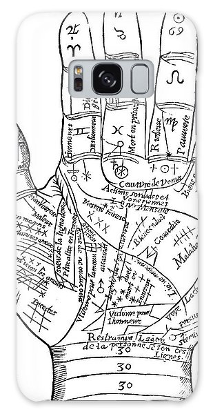 Engraving Galaxy Case - Palmistry by English School