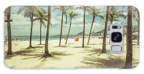 Attraction Galaxy Case - Palms With Shadows On Copacabana Beach by Marchello74