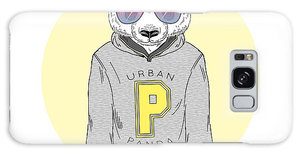 Furry Galaxy S8 Case - Panda Boy Dressed Up In Hoodie With by Olga angelloz
