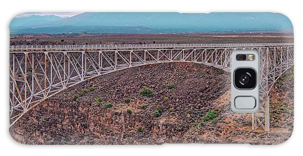 Chasm Galaxy Case - Panorama Of The Rio Grande Del Norte Gorge Bridge And Sangre De Cristo Mountains - Taos New Mexico by Silvio Ligutti