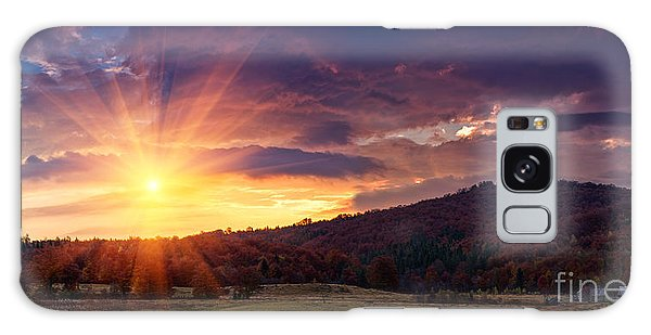 Dawn Galaxy Case - Panoramic View Of The Dramatic Sunset by Volodymyr Martyniuk