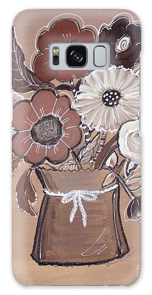 Galaxy Case featuring the painting Paper Bag Bouquet by Robin Maria Pedrero
