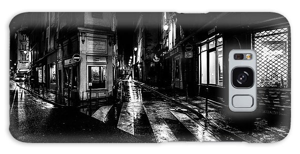Paris At Night - Rue De Seine Galaxy Case