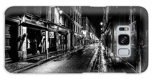 Paris At Night - Rue De Vernueuil Galaxy Case