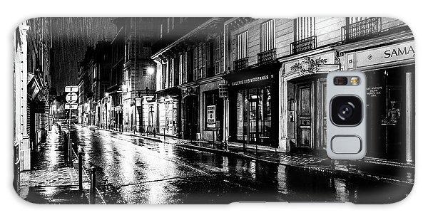 Paris At Night - Rue Saints Peres Galaxy Case