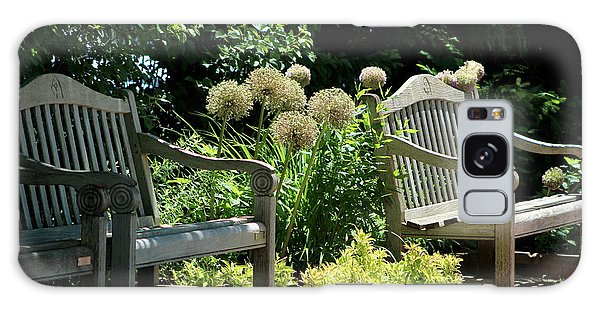 Park Benches At Chicago Botanical Gardens Galaxy Case
