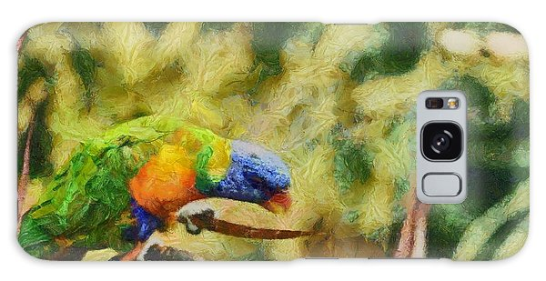Galaxy Case featuring the painting Parrot Paradise by Harry Warrick