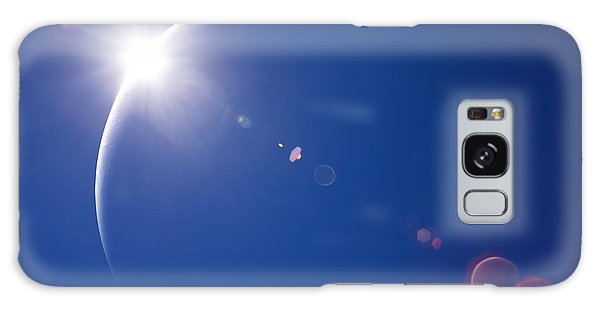 Beam Galaxy Case - Partial Solar Eclipse With Blue Sky And by Johan Swanepoel
