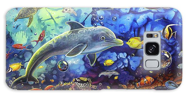 Past Memories New Beginnings Dolphin Reef Galaxy Case