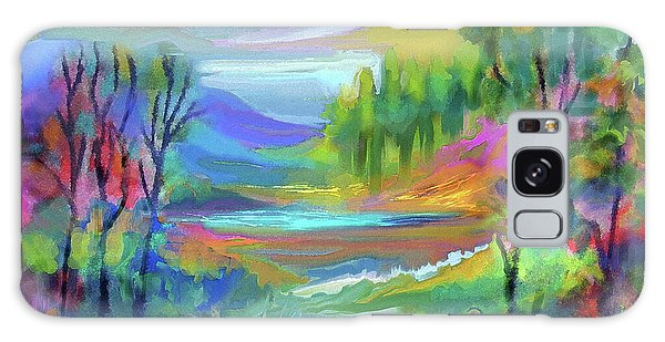 Pastel Landscape Galaxy Case