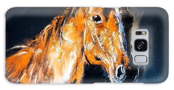 Success Galaxy Case - Pastel Portrait Of A Brown Horse On A by Ivailo Nikolov