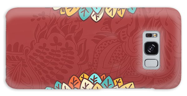 Branch Galaxy Case - Pattern With Autumn Foliage Vector by Shumo4ka