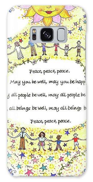 Peace, Peace, Peace Galaxy Case