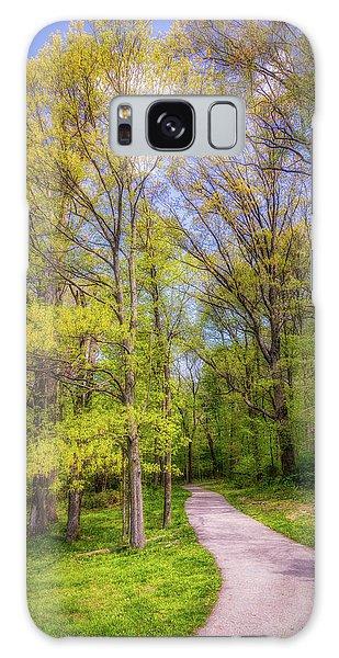 Green Leaf Galaxy Case - Peaceful Pathway by Tom Mc Nemar