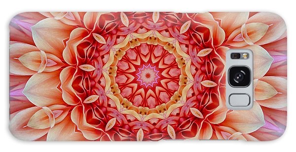 Peach Floral Mandala Galaxy Case