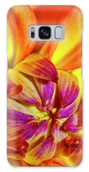 Peach Purple Flower Galaxy Case