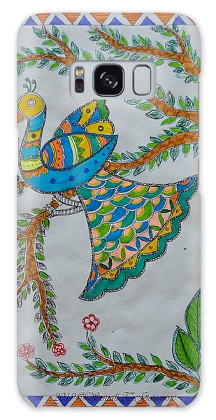 Madhubani Galaxy Case - Peacock In Madhubani by Sonali Gangane