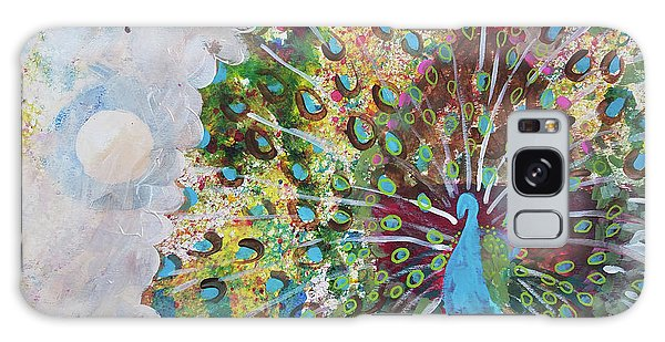Peacock In Morning Mist Galaxy Case