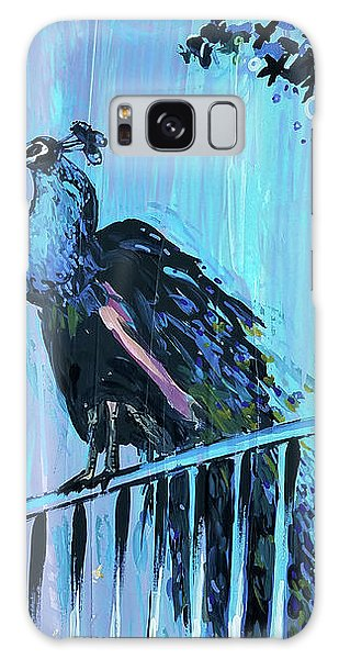 Peacock On A Fence Galaxy Case