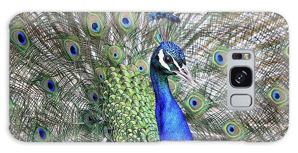 Peacock Portrait Galaxy Case