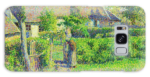 Country Living Galaxy Case - Peasants' Houses, Eragny - Digital Remastered Edition by Camille Pissarro