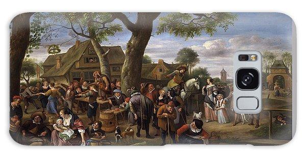 Jan Galaxy Case -  Peasants Merrymaking Outside An Inn, Fair At Warmond by Jan Steen