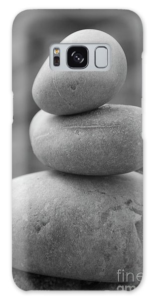 Pebbles In Black And White Galaxy Case