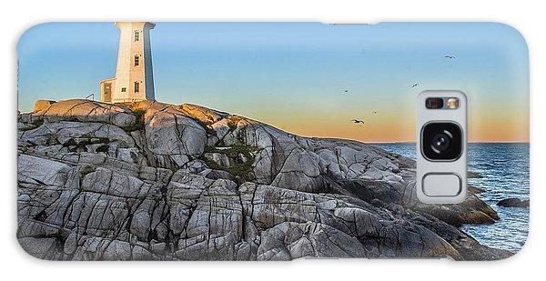 Peggys Cove Lighthouse Galaxy Case
