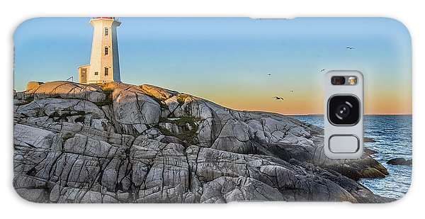 Peggys Cove Lighthouse Galaxy Case