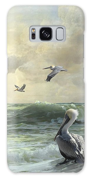 Pelicans In The Surf Galaxy Case