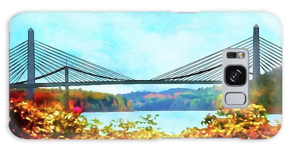 Penobscot Narrows Bridge In Autumn Galaxy Case