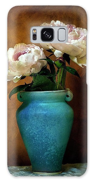 Peonies In Spring Galaxy Case