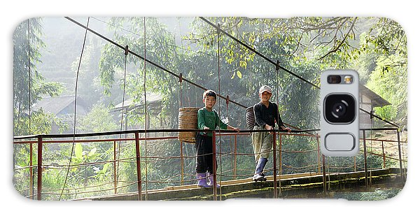 People And Children From Sapa, Mountainous Area Of Northern Vietnam In Their Daily Life. Galaxy Case