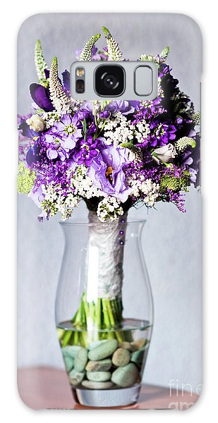Perfect Bridal Bouquet For Colorful Wedding Day With Natural Flowers. Galaxy Case