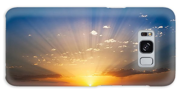 Horizontal Galaxy Case - Perfect Sunrise On The Sea, With by Roberto Caucino