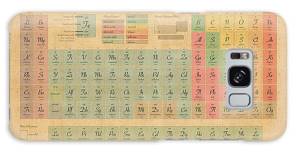Table Galaxy Case - Periodic Table Of Elements by Michael Tompsett
