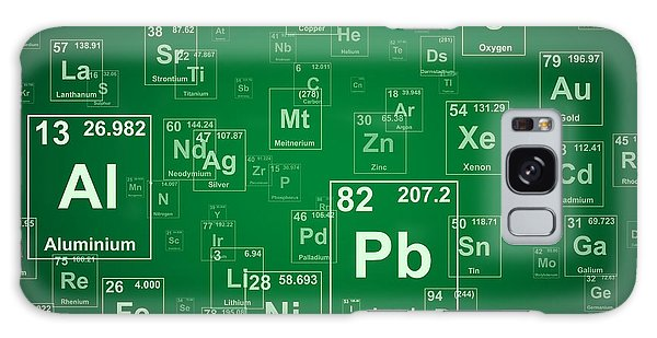 Scientific Illustration Galaxy Case - Periodic Table Of The Elements. Green by Jason Winter
