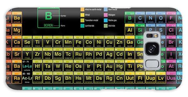 Scientific Illustration Galaxy Case - Periodic Table Of The Elements In Black by Alejo Miranda