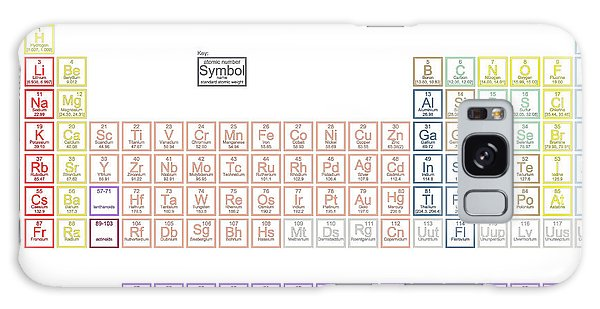 Scientific Illustration Galaxy Case - Periodic Table Of The Elements With by Great Siberia Studio