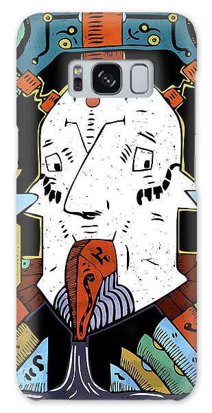 Galaxy Case featuring the drawing Petroleum by Sotuland Art