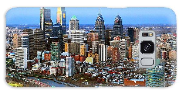 Dusk Galaxy Case - Philadelphia Skyline At Dusk 2018 by Jon Holiday