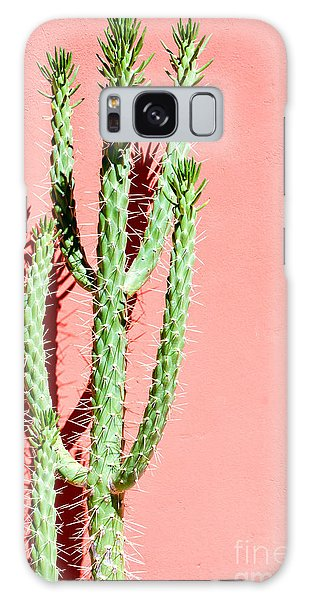 Desert Flora Galaxy Case - Photo Picture Of A Tropical Cactus by Underworld