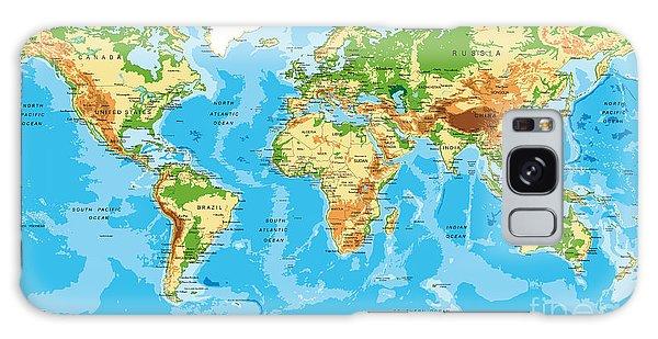 Physical Galaxy Case - Physical Map Of The World by Serban Bogdan