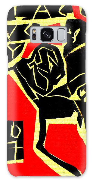 Piano Player Black Ivory Woodcut Poster 31 Galaxy Case