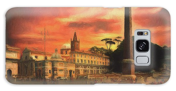 Galaxy Case featuring the photograph Piazza Del Popolo Rome by Leigh Kemp